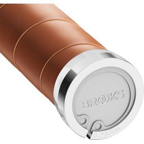 Brooks Slender Leather Manopole, honey